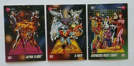 """1992 Impel Marvel Universe """"Teams"""" lot of 3 cards in NM Condition - $4.90"""