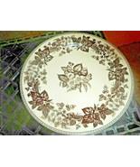 """Two's Company 9.5"""" Decorative White & Dark Brown Transferware Toile Rose... - $12.86"""