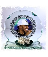 Lewis Hamilton Formula 1 Mercedes Cut Glass Round Plaque Limited Edition #4 - $34.64
