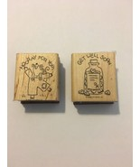 Stampin' UP! Rubber Stamps Hooray For You & Get Well Soon Saying Lot of ... - $4.94