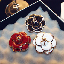 Luxury Women Girls Fashion Jewelry Gift Zinc Alloy Metal Camellia Flower Brooch - $8.97