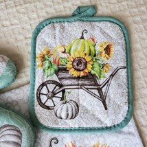 Kitchen Linens Set, 6pc, Give Thanks with a Grateful Heart, Sunflowers Pumpkins image 6