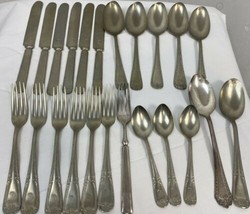 Vintage Solid Brazilian Silver Flatware, Mixed Lot 23 Pieces, Engraved D - $37.99