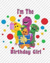 Im the Birthday Girl Barney Birthday Iron On Transfer Instant Download Y... - $3.95