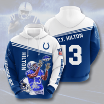 NFL-Indianapolis-Colts T.Y. Hilton 3D Hoodie Size S-5XL Unisex, Gifts For Fans, - $35.31+