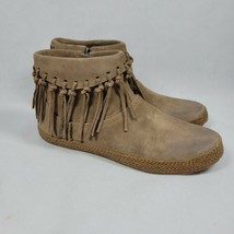 UGG Womens Shenendoah 1012502 Brown Booties Ankle Top Fringe Round Toe S... - $49.99