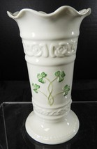"Belleek Shamrock 6""  Vase - Tara Collection * 6th Green Mark - $9.31"
