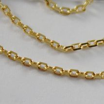 18K YELLOW GOLD MINI 1.5 MM DIAMOND CUT CABLE CHAIN 17.70 INCHES MADE IN ITALY  image 3