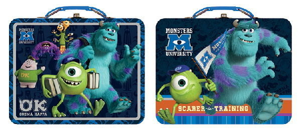 Walt Disney Monsters University Large Carry All Tin Tote Lunchboxes Set of 2 NEW