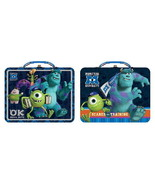 Walt Disney Monsters University Large Carry All Tin Tote Lunchboxes Set ... - $22.74