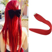 Full Shine 18 Inch Popular Multi-Colors Red Color Tape in Premium Remy Human Hai