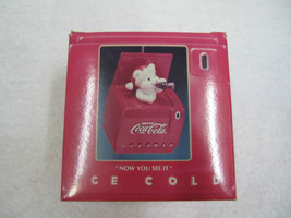 "Coca-Cola Ornament Bear Christmas ""Now You See It""   NIP - $11.39"