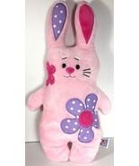 Ganz Bunny Rabbit Plush Stuffed Animal Pink Flower Power Retro Floral - $8.85