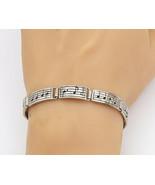 SILVER CLOUD 925 Silver - Vintage Music Notes Hinge Link Chain Bracelet ... - $79.94