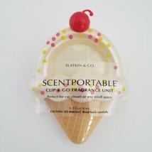 Ice Cream Cone Scentportable Bath Body Works Clip and Go Unit Visor No Disc - $15.95
