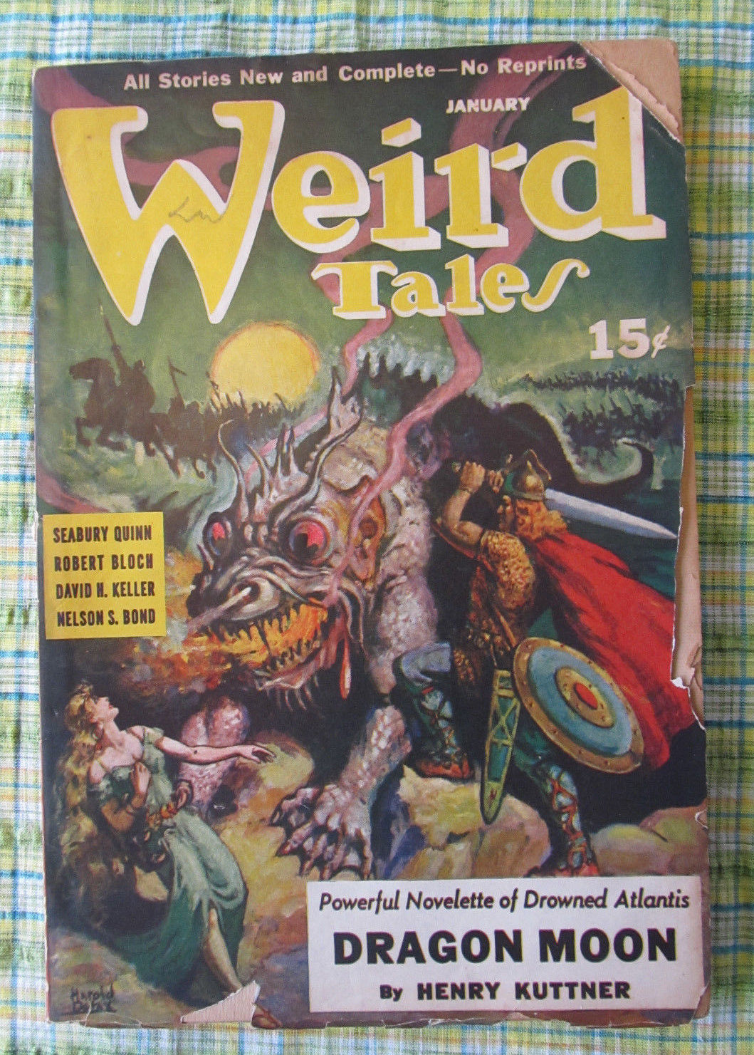 Primary image for Vtg horror fiction Weird Tales Jan 1941 short stories Quinn Bloch De lay