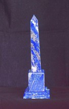 "170MM (7"") Blue Lapis Lazuli Chakra Healing Power Pietra dura Obelisk Tower - $94.05"