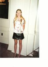 Kirsten Dunst teen magazine pinup clipping Japan Bop 90's black leather skirt