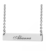 Custom Any Name Bar Necklace Christmas Mother Day Gift for Alianna - $9.99+