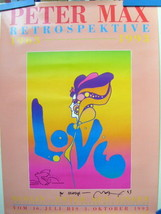 PETER MAX (ORIGINAL POSTER) HAND SIGN AUTOGRAPH,WITH ORIG,DRAWING (CLASS... - $692.01