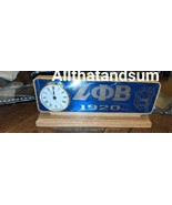 ZETA PHI BETA SORORITY Wood Desktop Clock Domed Desktop Clock - $53.90
