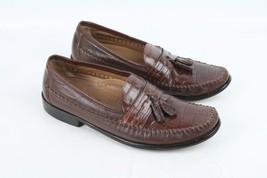 FLORSHEIM Loafer Tassle Slip On Brown Dress Shoe Leather 11.5 B Mens Shoes - $29.99