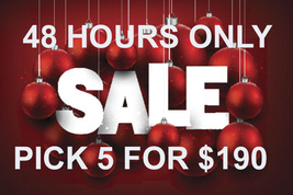 TUES -WED FLASH HOLIDAY OFFER PICK ANY 5 FOR $190 BEST OFFERS DISCOUNT MAGICK  - $76.00