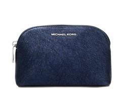 Michael Kors  Nwt Viaggio Marsupio Frizione Blu pelle Zip intorno Cosmet... - $28.98