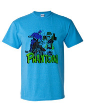 The Phantom T-shirt retro comic book free shipping cotton blend blue tee image 2