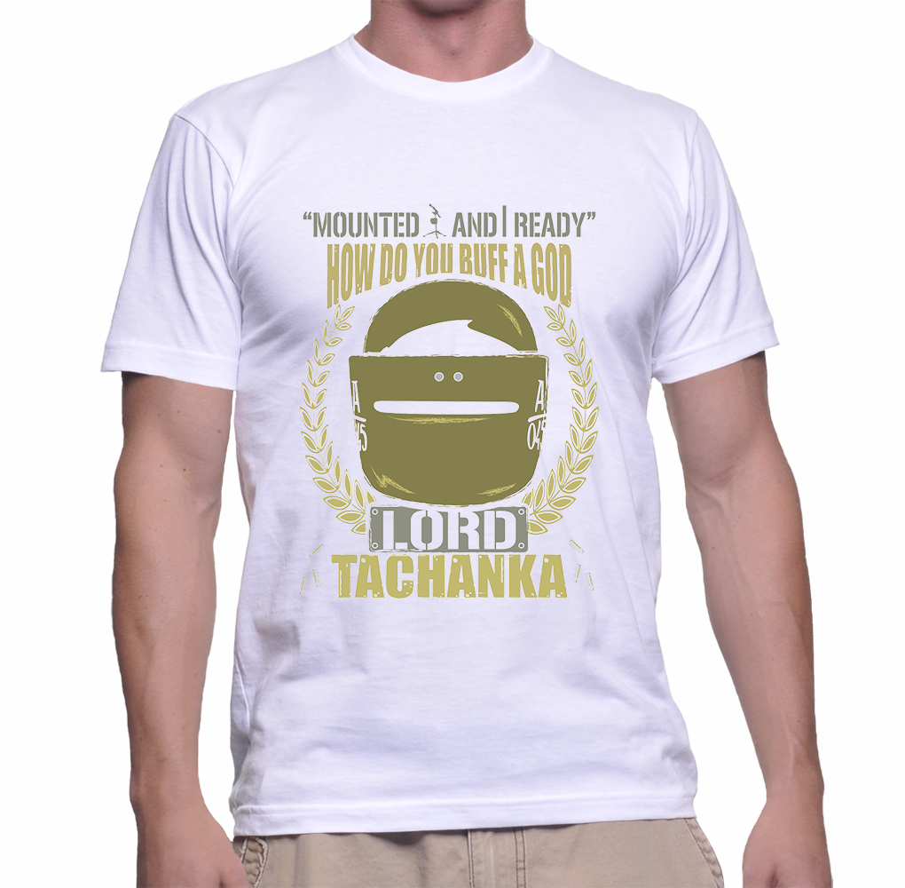 Lord Tchanka Gildan T-shirt Size S,M,L,XL,2XL White Color
