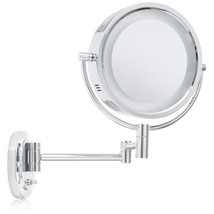 Jerdon HL65C 8-Inch Lighted Wall Mount Makeup Mirror with 5x Magnificati... - $51.99