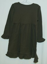 Blanks Boutique Long Sleeved Color Brown Ruffle Dress Size 3T image 2