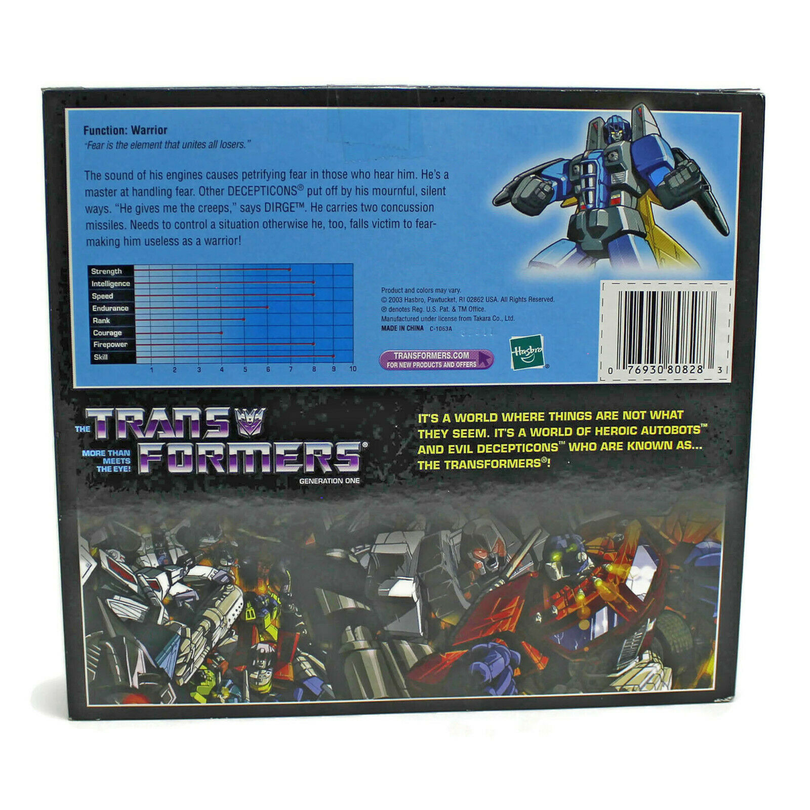 Transformers G1 | DIRGE | Commemorative Series 7 VII | DECEPTICON | Hasbro 2003 image 4