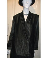 WOMEN SIZE 10  BLACK LONG SLEEVE SATIN BLOUSE BY SAN ANDRE' - $24.99