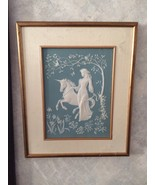 Lady and the Unicorn by George Mc Mongle Franklin Mint Signed on back Po... - $90.00