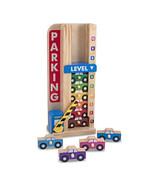 Melissa and Doug Wooden Stack & Count Parking Garage Preschool Toy 5182 - $16.82