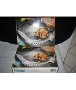 "Set of 8 Clear Glass Nautical Fish Plates 10.5"" Pasabache Marine NEW in BOX - $29.99"