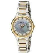 Seiko SUT318 Women's Diamond Dial Stainless Steel Two-Tone Watch - $98.95
