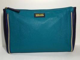 Estée Lauder Faux Leather Makeup Bag (Teal Blue & Navy Blue) - $6.50