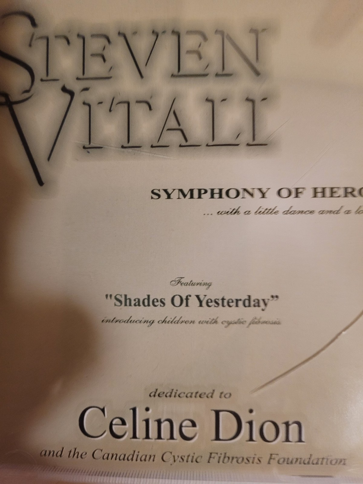 Symphony of Heroes by Steven Vitali Cd