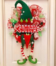 Whimsical elf wreath, Elf wreath, christmas wreath, chrismas elf wreath,... - $108.10