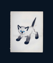 Standing Siamese Kitten with Blue Eyes by Clare Turlay Newberry 1930s Il... - $8.99