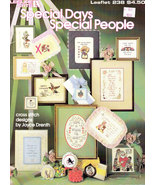 CROSS STITCH SPECIAL DAYS SPECIAL PEOPLE LA. 238 - $4.50