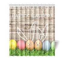 InterestPrint Happy Easter Decoration Easter Eggs and Cute Bunny House D... - $33.65