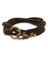 Double Strand Brown Suede Wrap Design Fashion Bracelet - $21.99