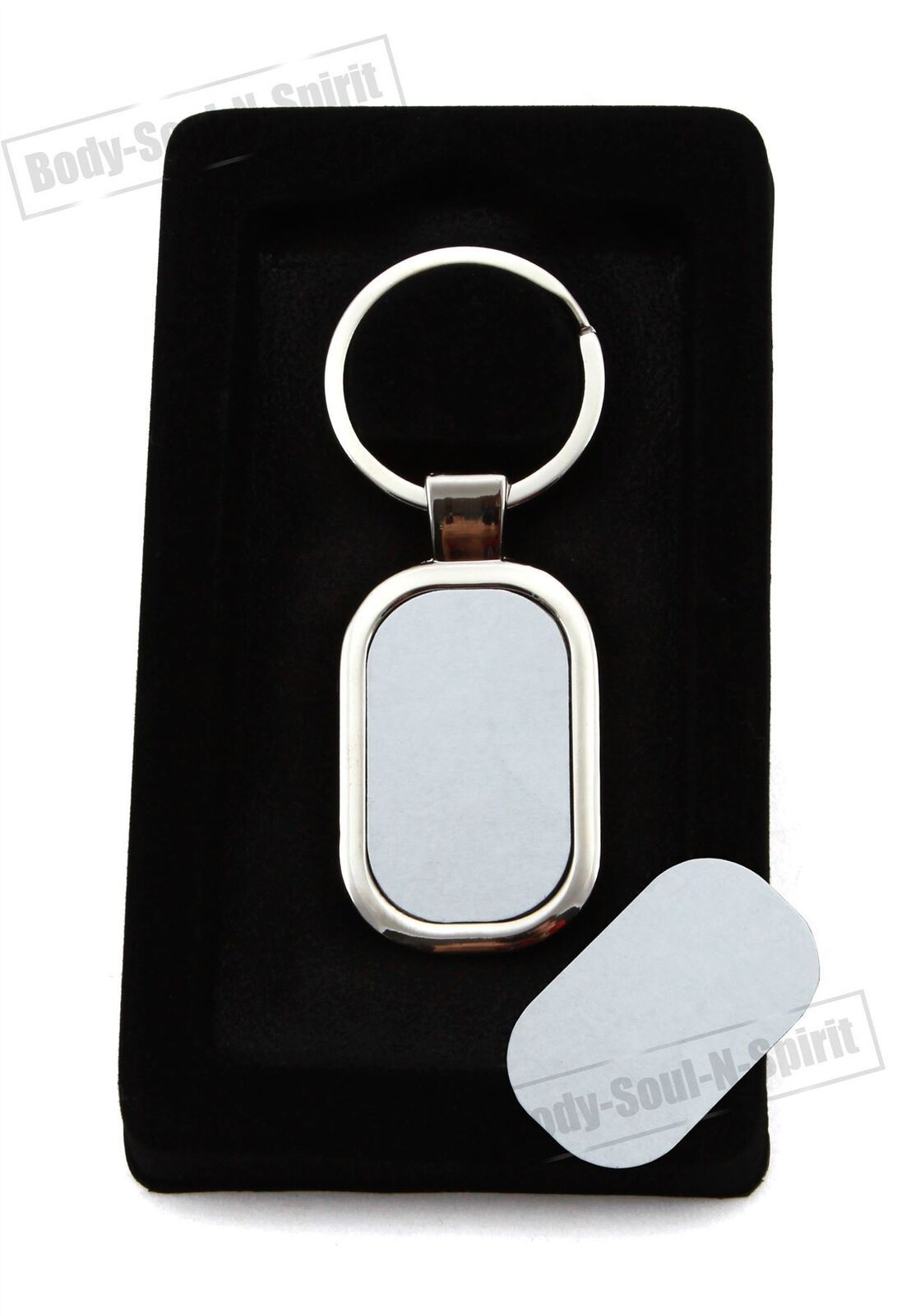 LOT Blank Sublimation Metal Rounded Keyring Chrome personalized Heat Press - $5.69