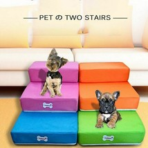 2-Step Pet Bed and Stair Ladder Portable Foldable Mesh Cushion for Cats ... - $34.26+