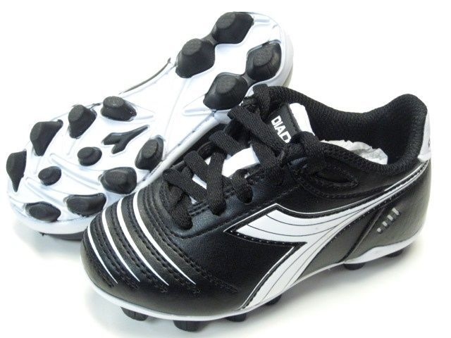 08254ef5a84 S l1600. S l1600. Previous. Diadora Cattura MD JR Youth Soccer Cleats Black    White Shoes Kids ...