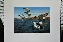 1987 4th Chesapeake Bay Conservation Stamp & Print Goldeneys Medallion ... - $74.25