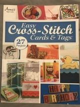 Cross Stitch Pattern Book EASY CARDS & TAGS ~ Motifs, Ornaments, Borders + - $15.67